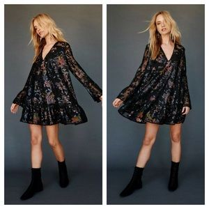Free People Falling Flowers Frock Sequin Dress